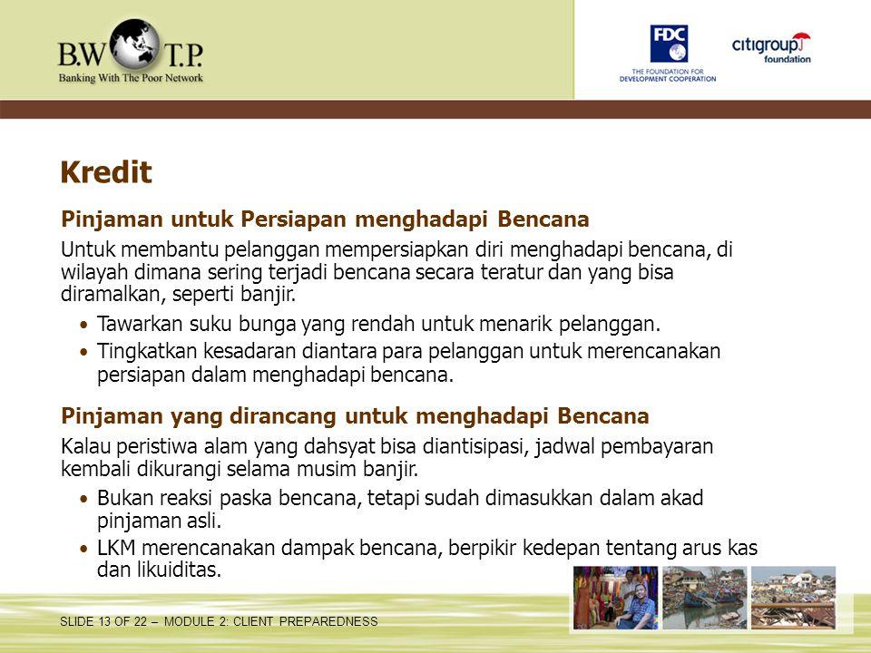 Kredit Pinjaman untuk Persiapan menghadapi Bencana
