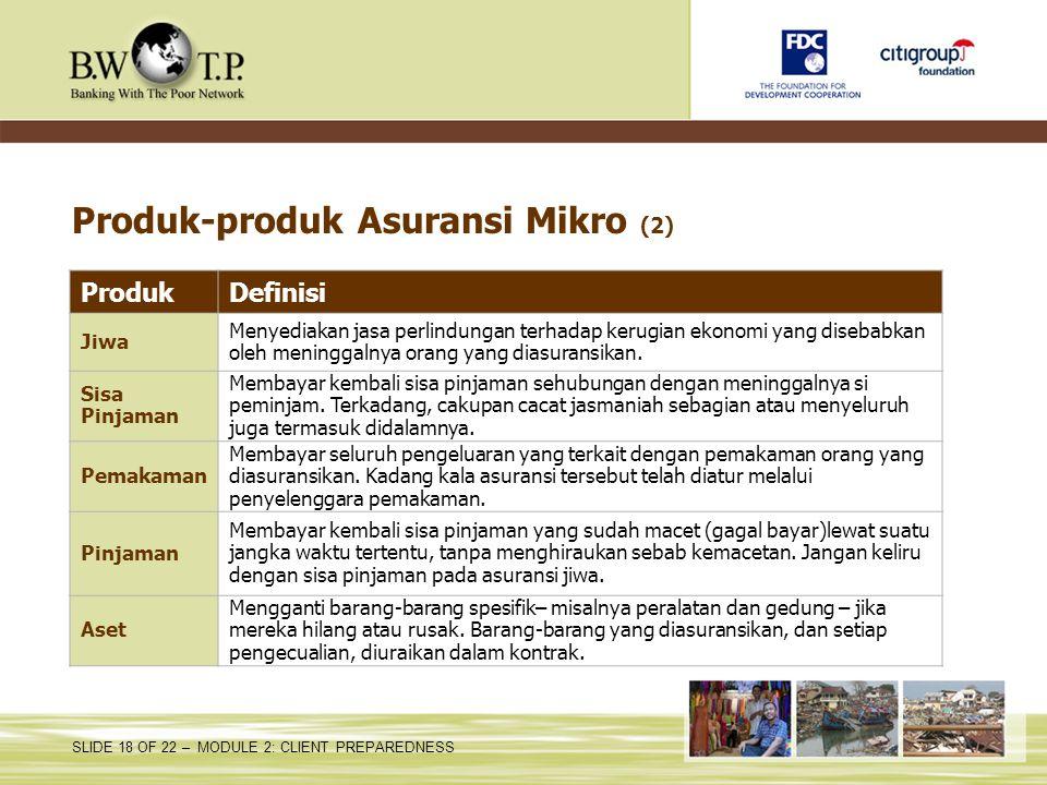 Produk-produk Asuransi Mikro (2)