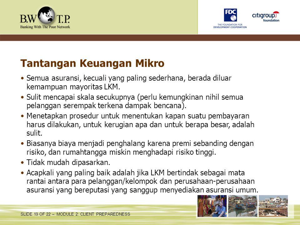 Tantangan Keuangan Mikro