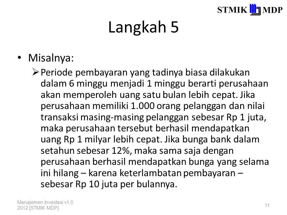 Langkah 5 Misalnya: