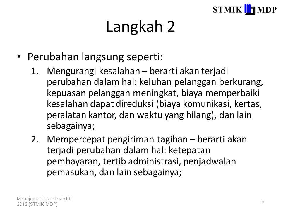 Langkah 2 Perubahan langsung seperti: