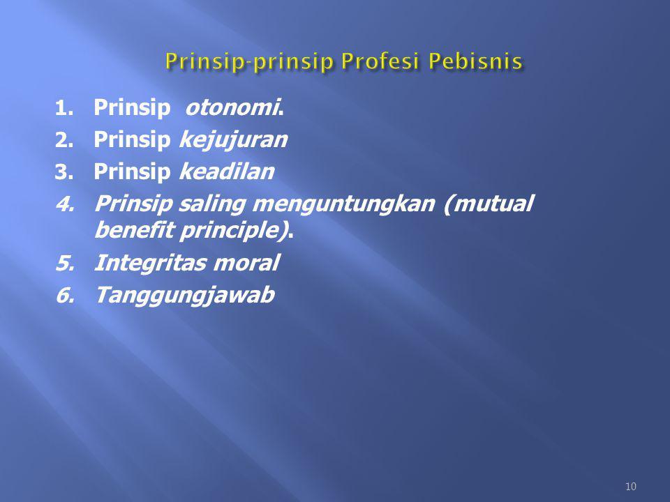 Prinsip-prinsip Profesi Pebisnis