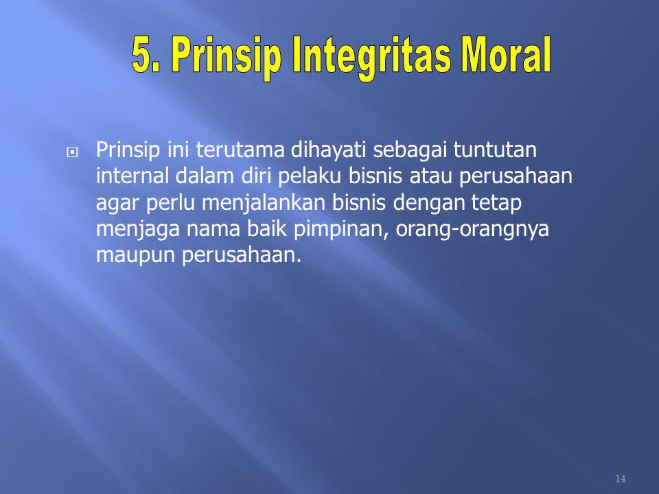5. Prinsip Integritas Moral
