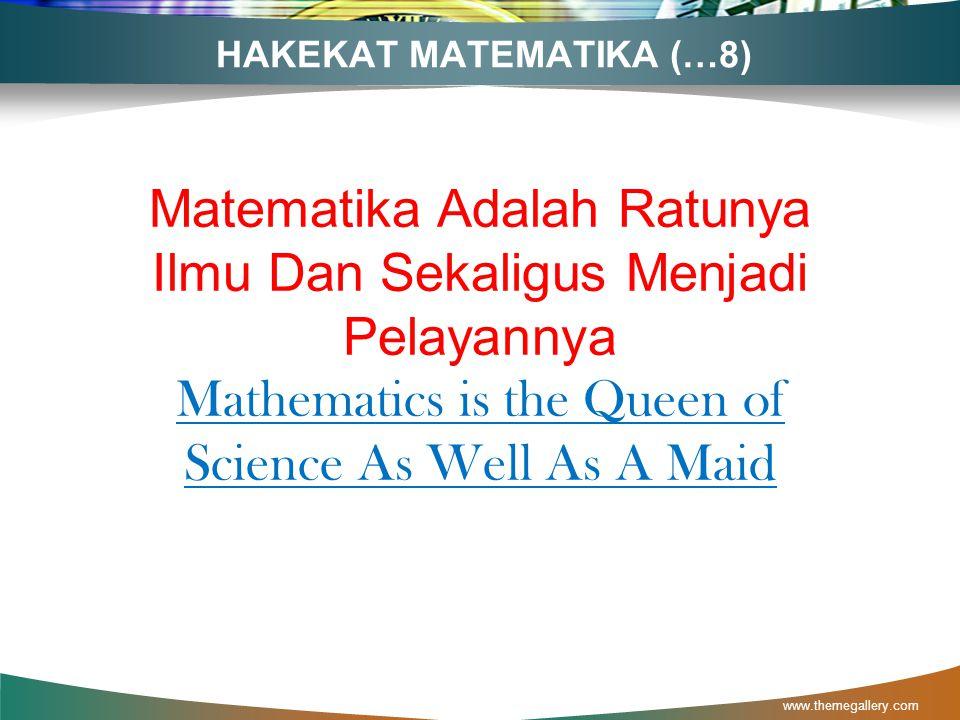 HAKEKAT MATEMATIKA (…8)