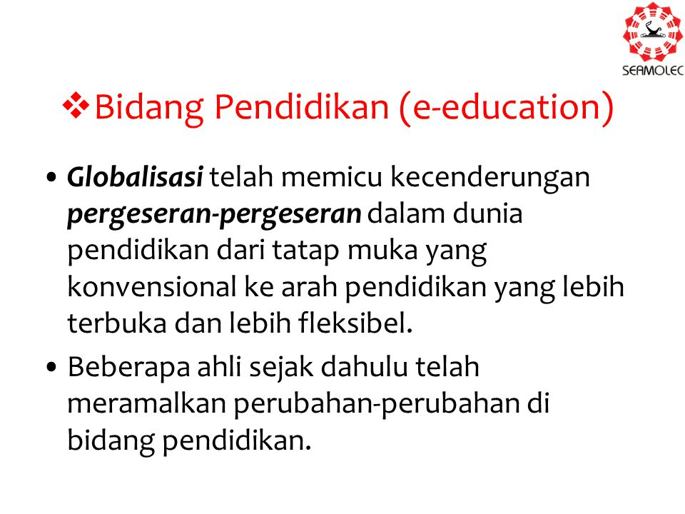 Bidang Pendidikan (e-education)