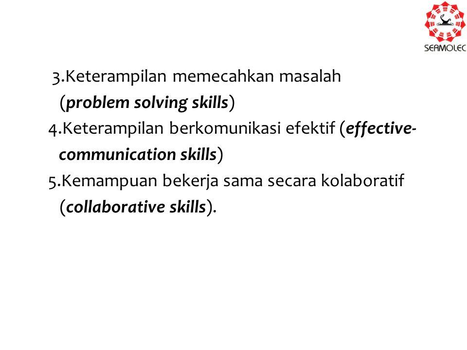 3. Keterampilan memecahkan masalah (problem solving skills) 4