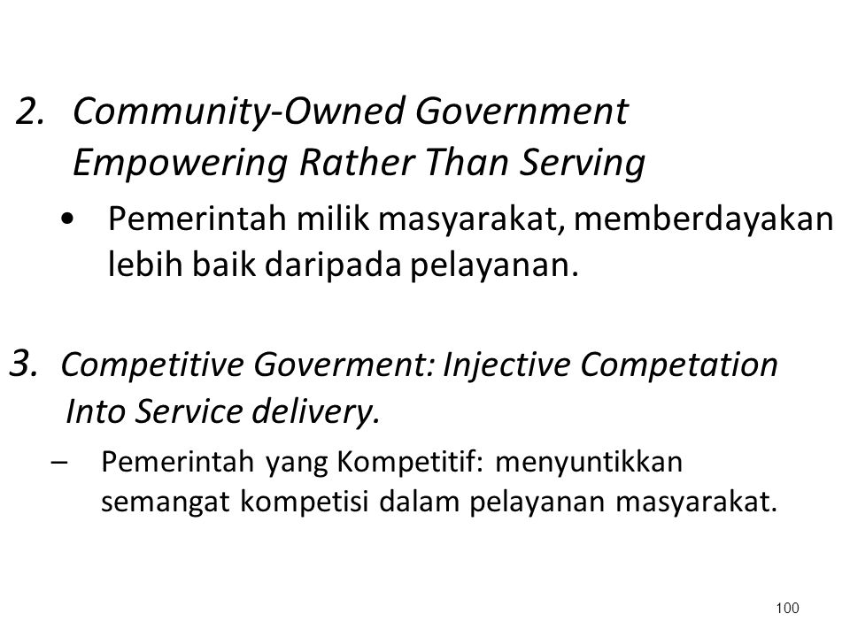 Community-Owned Government Empowering Rather Than Serving