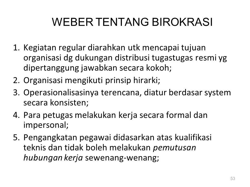 WEBER TENTANG BIROKRASI