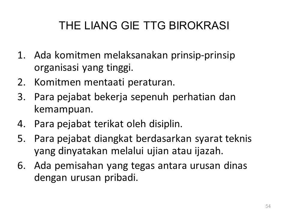 THE LIANG GIE TTG BIROKRASI