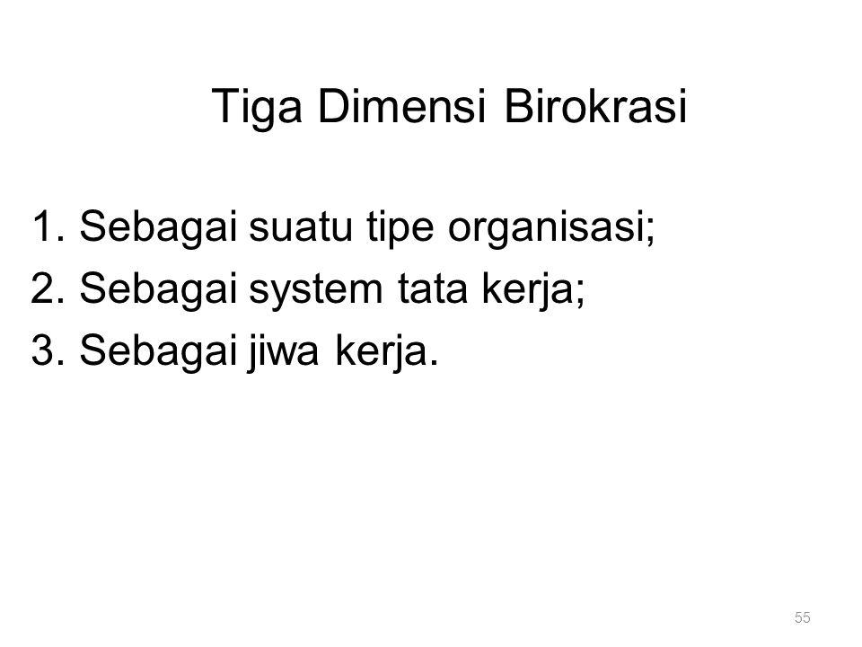 Tiga Dimensi Birokrasi