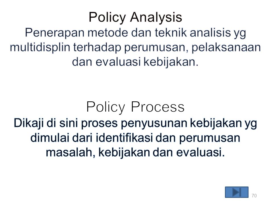 Policy Process Policy Analysis