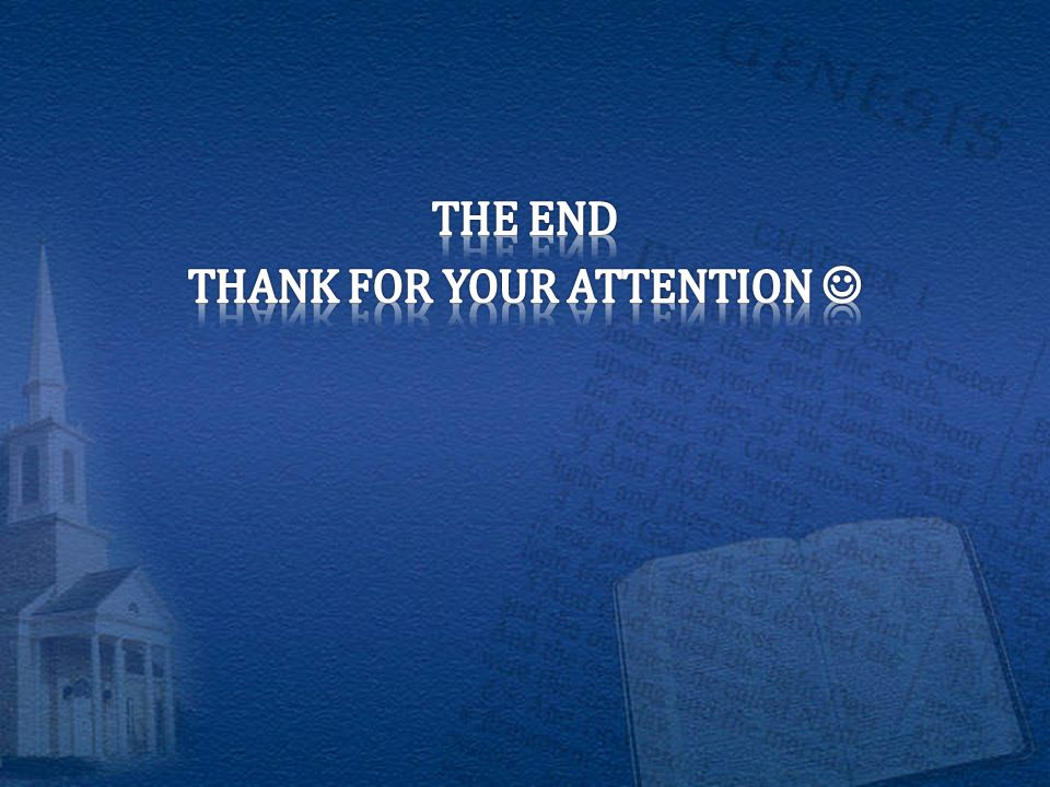 THE END THANK FOR YOUR ATTENTION 