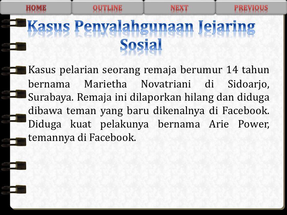 Kasus Penyalahgunaan Jejaring Sosial