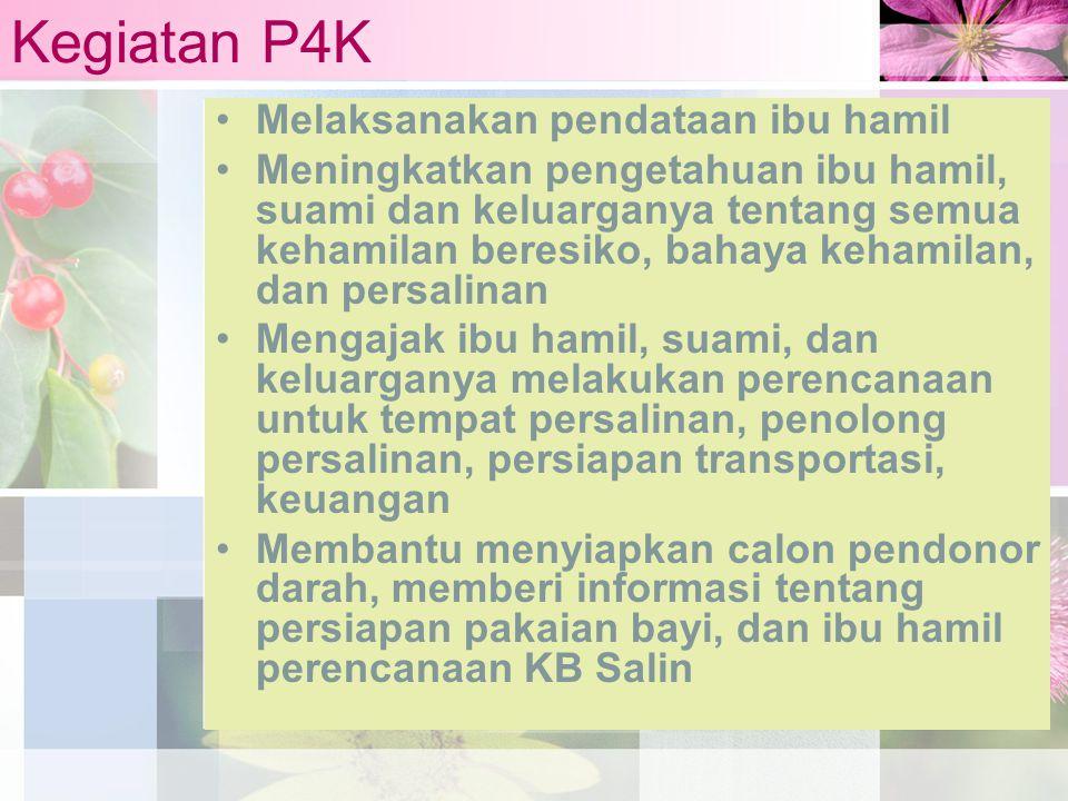 Kegiatan P4K Melaksanakan pendataan ibu hamil