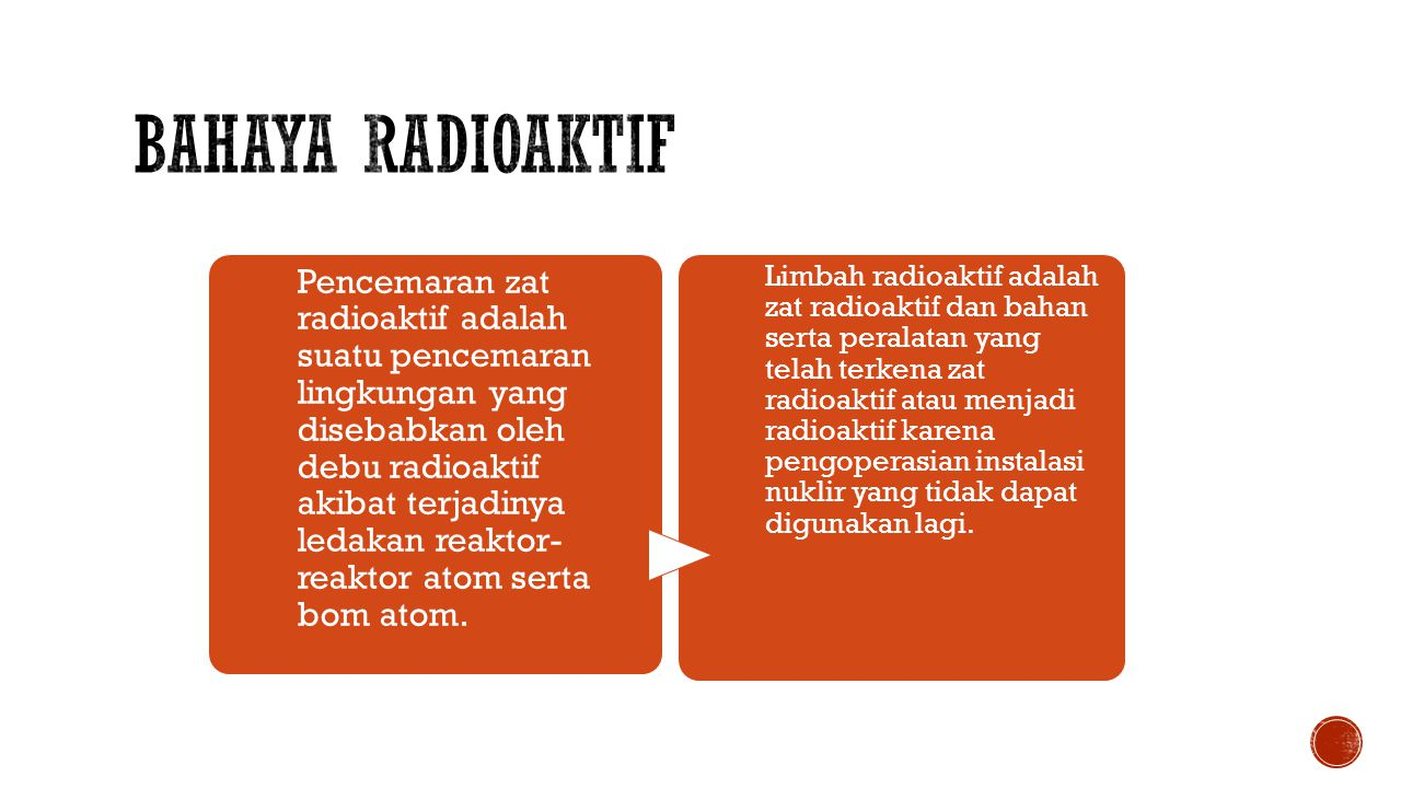 Bahaya radioaktif