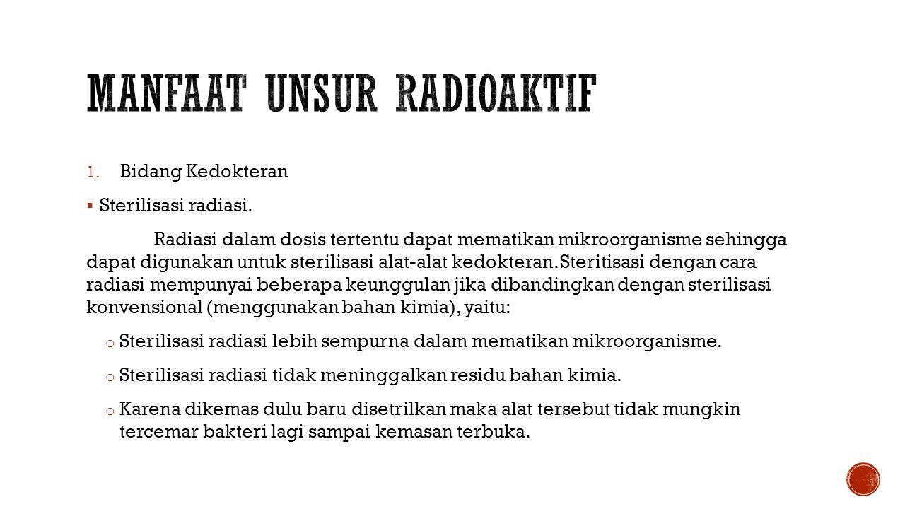 Manfaat unsur radioaktif