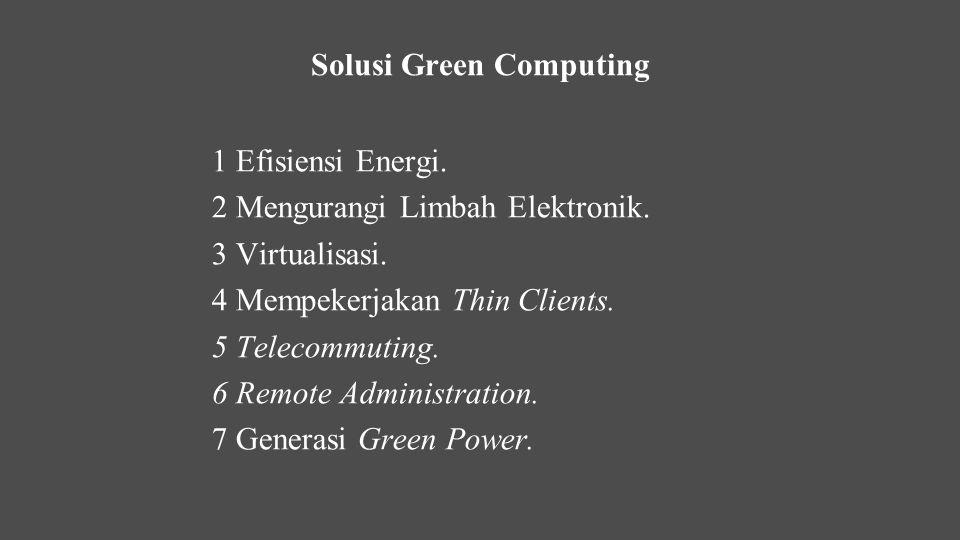 Solusi Green Computing