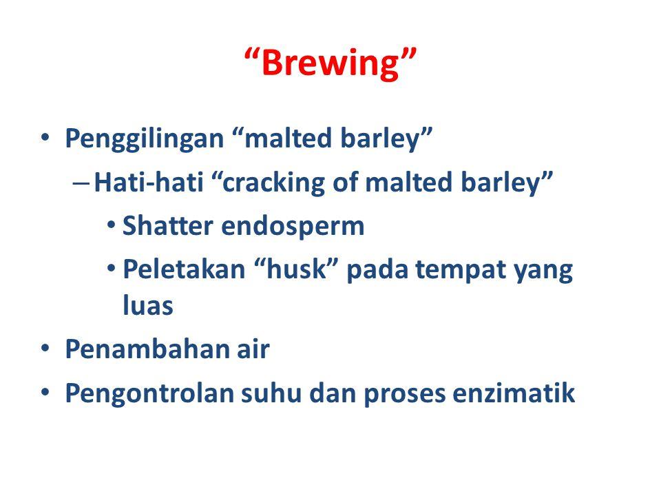 Brewing Penggilingan malted barley