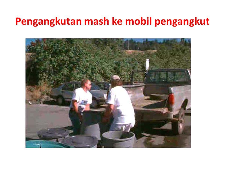 Pengangkutan mash ke mobil pengangkut