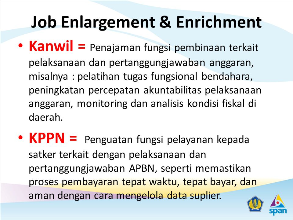 Job Enlargement & Enrichment