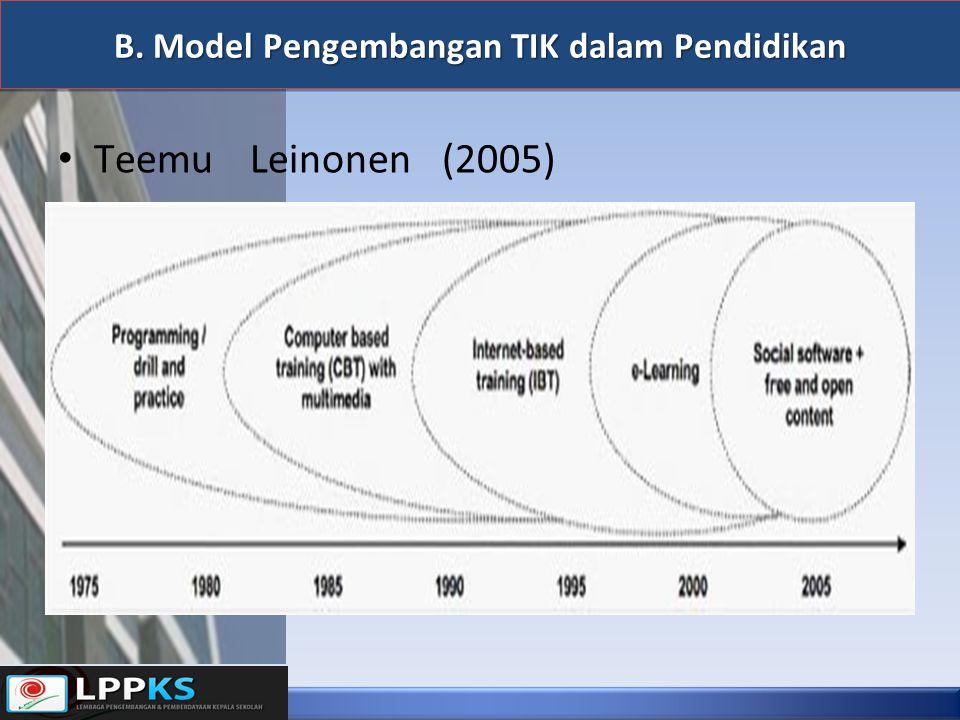 B. Model Pengembangan TIK dalam Pendidikan