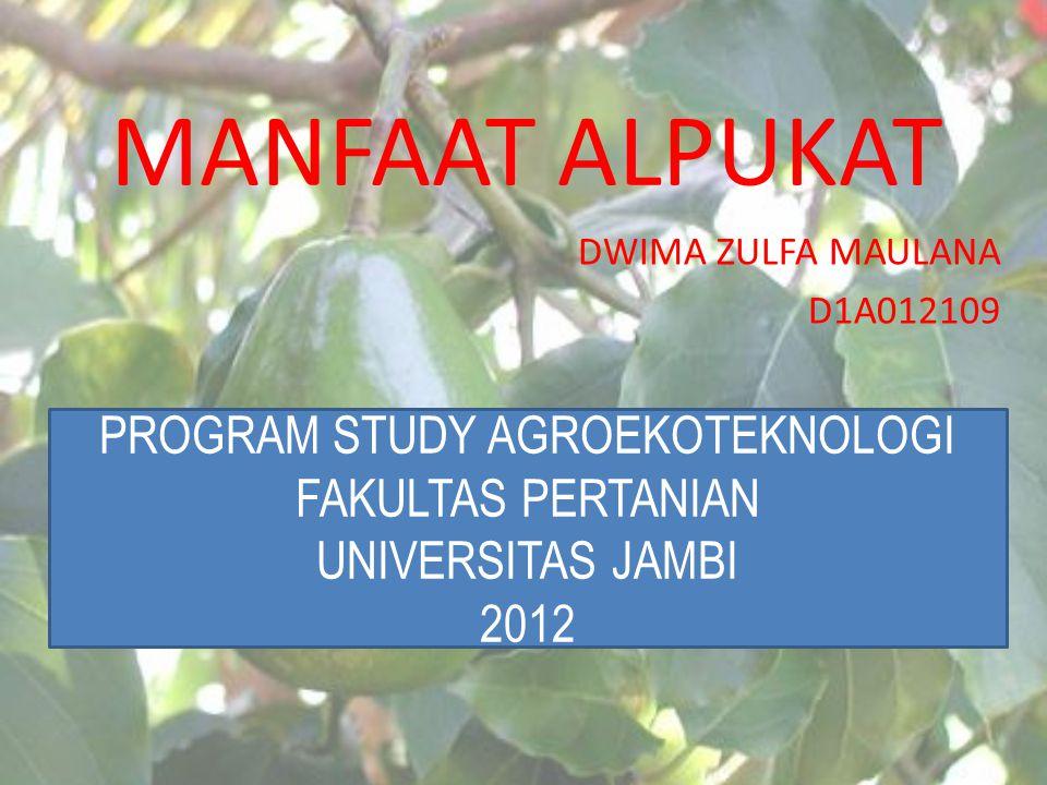 PROGRAM STUDY AGROEKOTEKNOLOGI