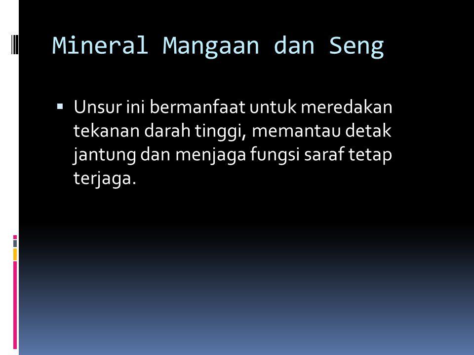 Mineral Mangaan dan Seng