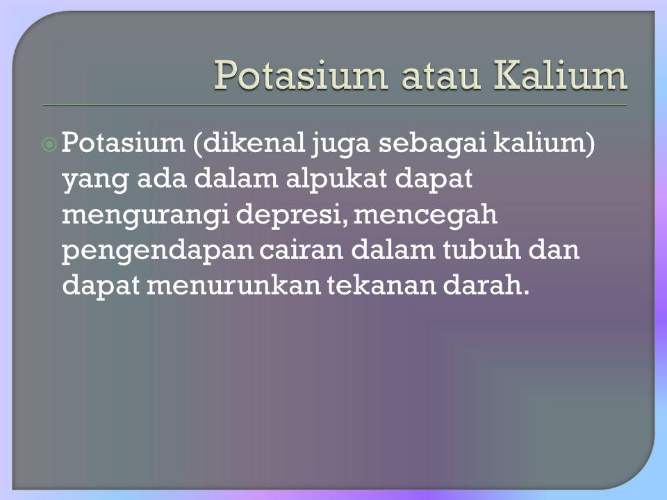 Potasium atau Kalium