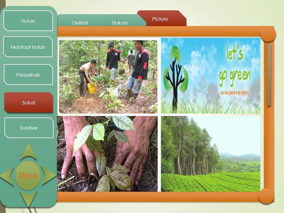 Hutan Picture Definisi Hukum Manfaat hutan Penyebab Solusi Sumber Menu