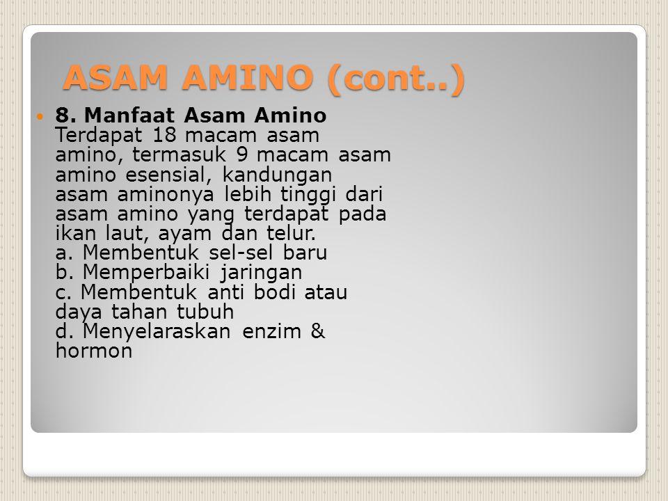 ASAM AMINO (cont..)