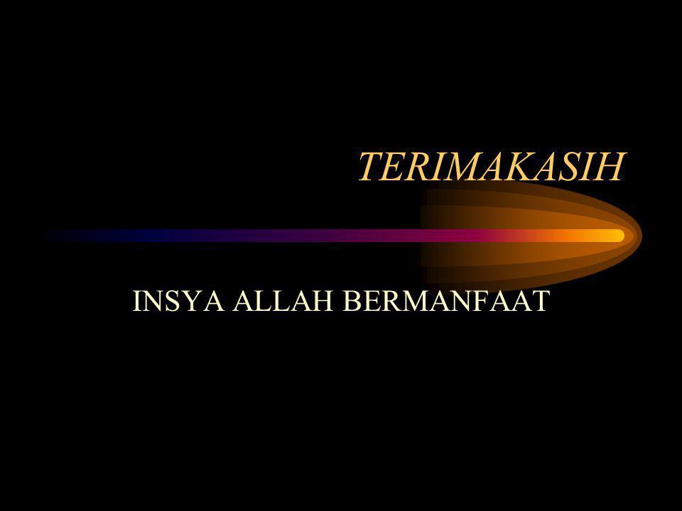 INSYA ALLAH BERMANFAAT