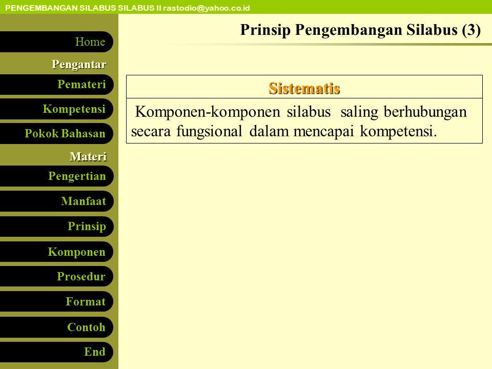 Prinsip Pengembangan Silabus (3)