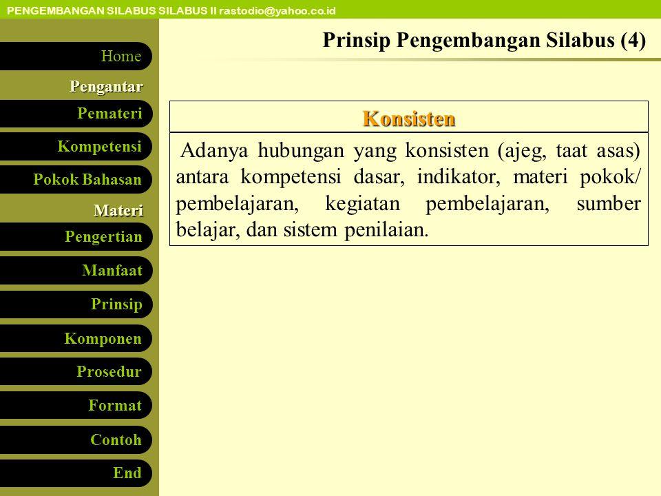 Prinsip Pengembangan Silabus (4)