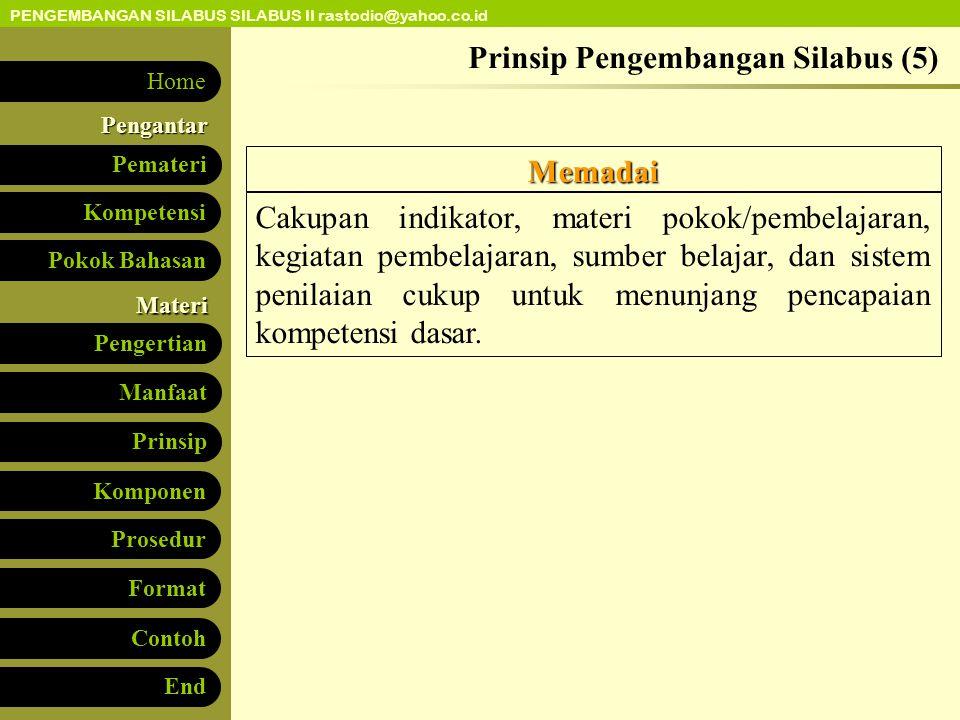 Prinsip Pengembangan Silabus (5)