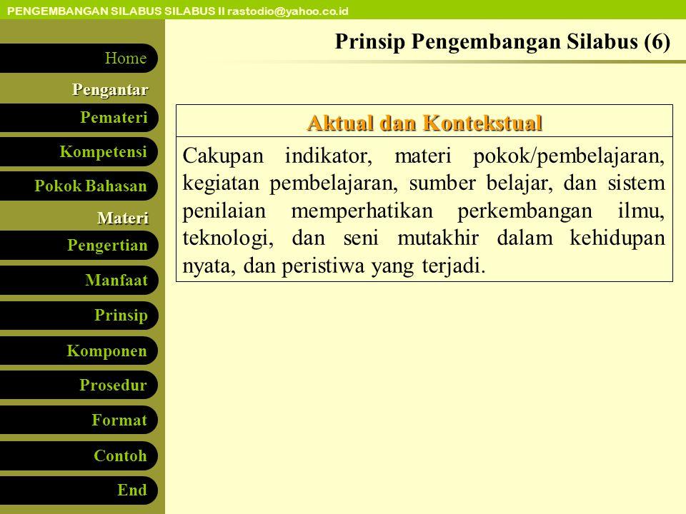 Prinsip Pengembangan Silabus (6)