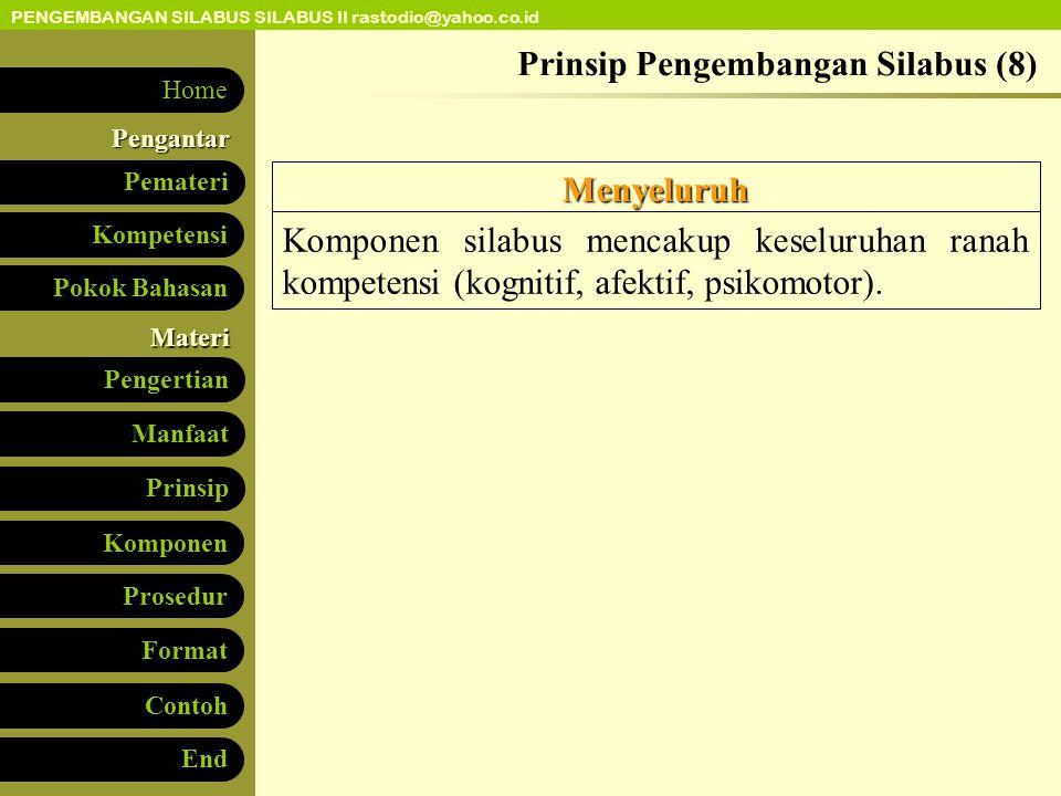 Prinsip Pengembangan Silabus (8)