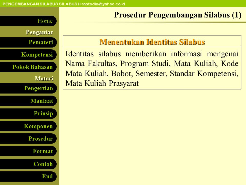 Prosedur Pengembangan Silabus (1)