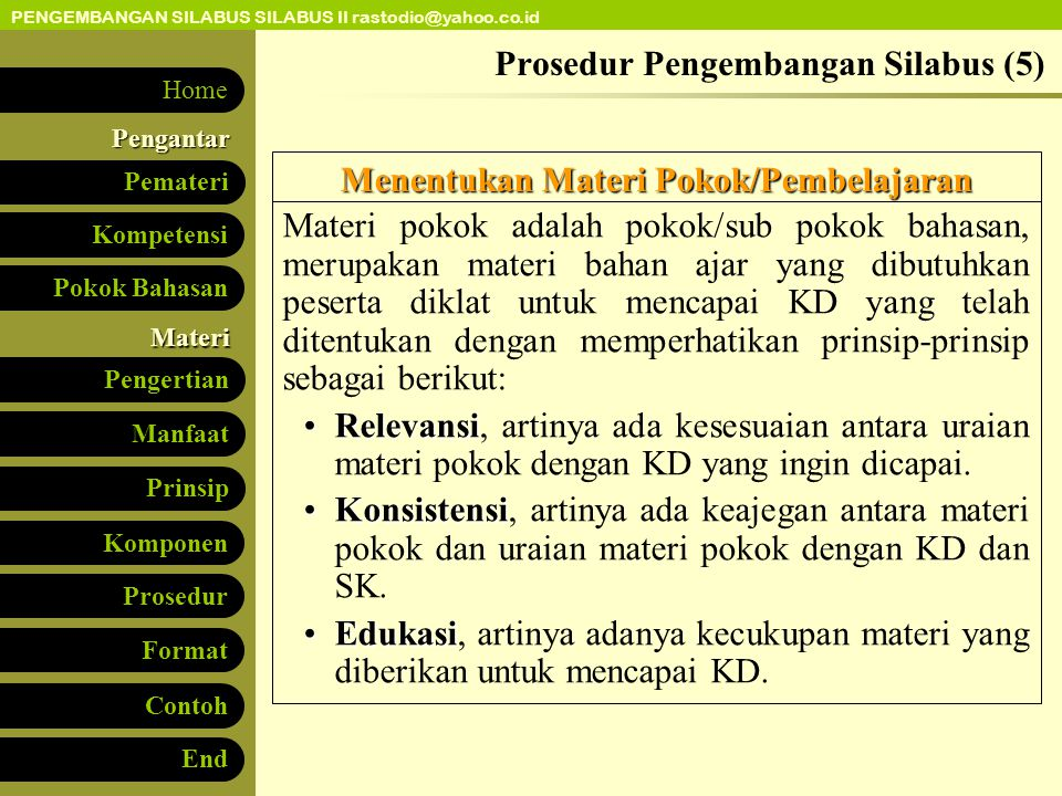 Prosedur Pengembangan Silabus (5)