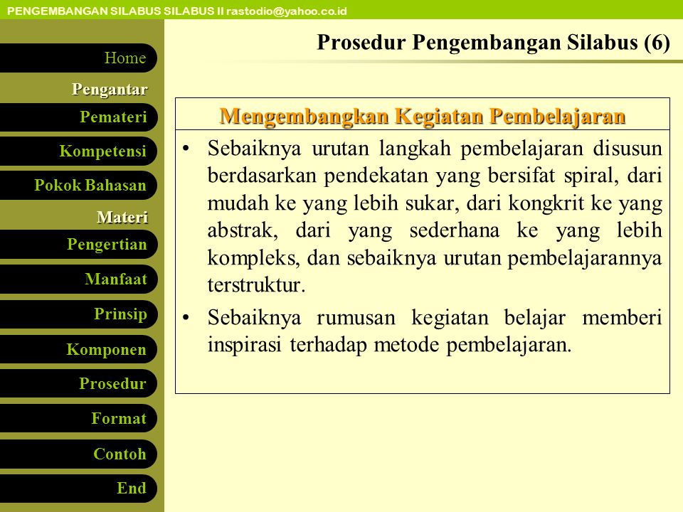 Prosedur Pengembangan Silabus (6)