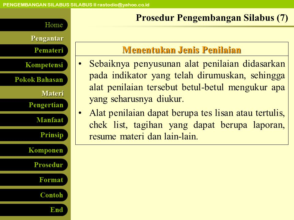 Prosedur Pengembangan Silabus (7)