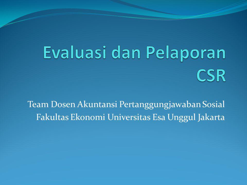 Evaluasi dan Pelaporan CSR