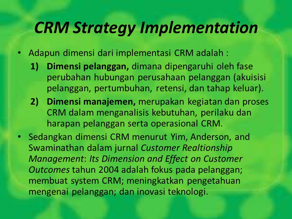 CRM Strategy Implementation