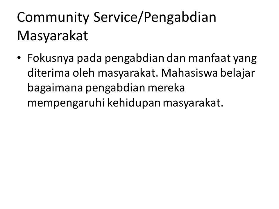 Community Service/Pengabdian Masyarakat