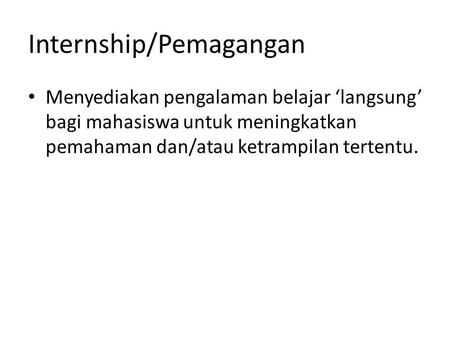 Internship/Pemagangan