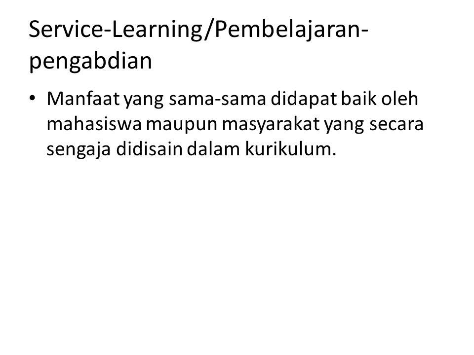 Service-Learning/Pembelajaran-pengabdian