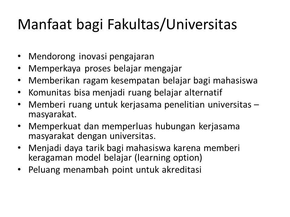 Manfaat bagi Fakultas/Universitas