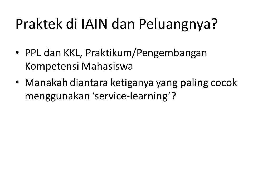 Praktek di IAIN dan Peluangnya