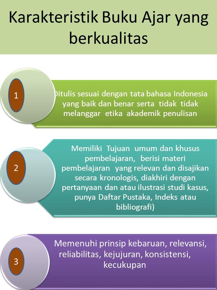 Karakteristik Buku Ajar yang berkualitas