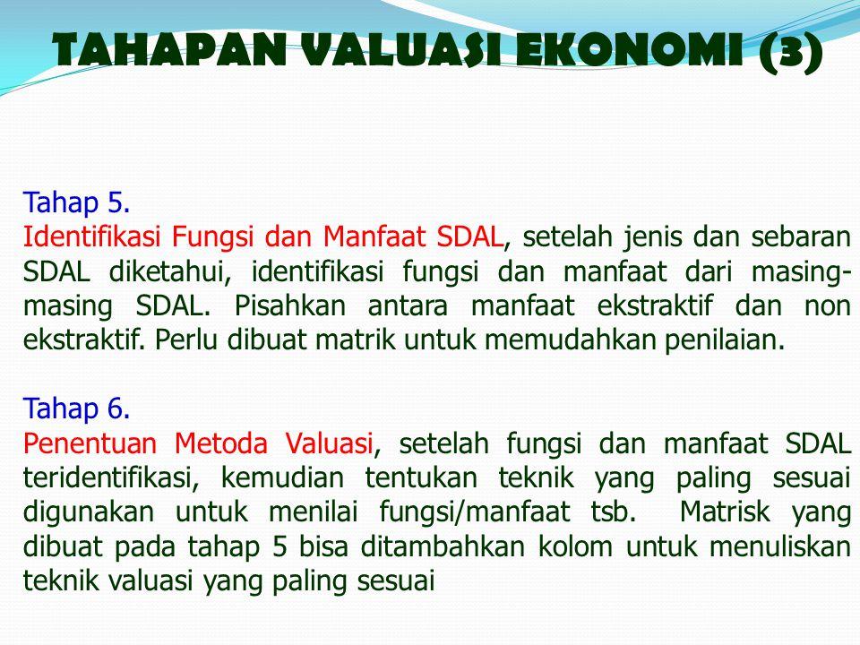 TAHAPAN VALUASI EKONOMI (3)
