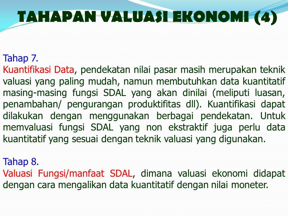 TAHAPAN VALUASI EKONOMI (4)